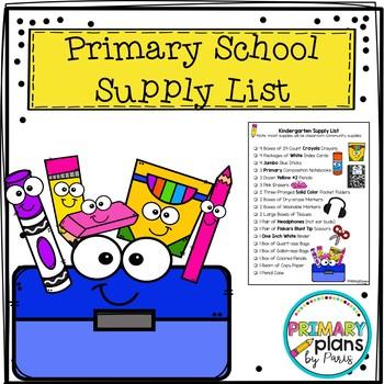 Primary School Supply List