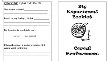 Primary Science Experiment Booklet - Cereal Preferences