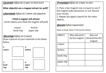 Primary Science Experiment Booklet - Magnets