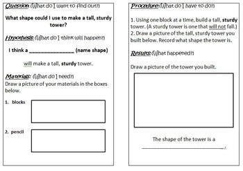 Primary Science Experiment Booklet - Stability