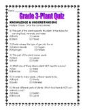 Primary Science Quiz/Test-PLANTS Ontario Curriculum