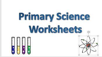 Primary Science Worksheet Bundle, 10 Worksheets, Great Discount