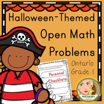 Primary Seasonal Open Math Problems - Halloween - Ontario Grade 1