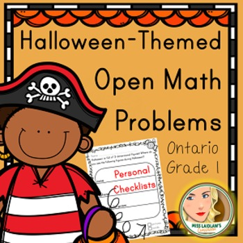 Primary Seasonal Open Math Problems - Halloween - Ontario Grade 1