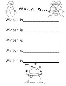 Primary Seasonal Poem Templates