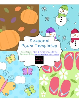 Primary Seasonal Poem Templates