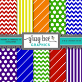 Primary & Secondary Colors Digital Paper