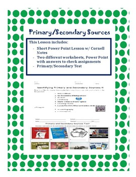 Primary/Secondary Lessons