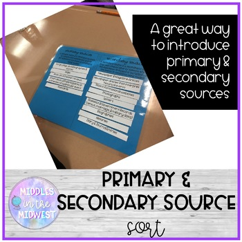 Primary & Secondary Source Sort