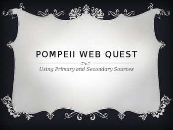 Primary Secondary Source Web quest
