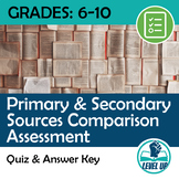 Primary & Secondary Sources Comparison Assessment