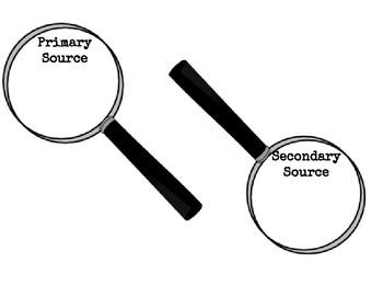 Primary/Secondary Sources Organizer