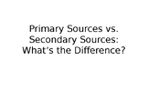 Primary/Secondary Sources Powerpoint