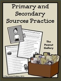 Primary & Secondary Sources Practice
