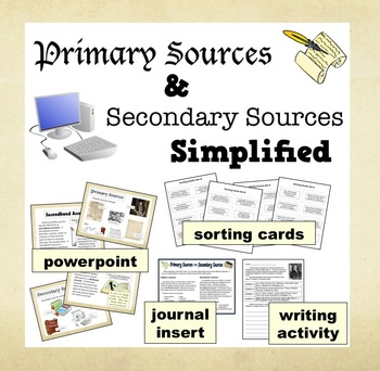 Primary & Secondary Sources... by Rogue Algorithm | Teachers Pay ...