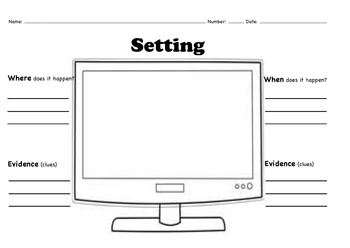 Primary Setting Graphic Organizer By Ljklein28 Tpt
