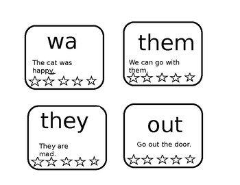 Primary Sight Word Cards for Sight Word Necklace *EDITABLE*
