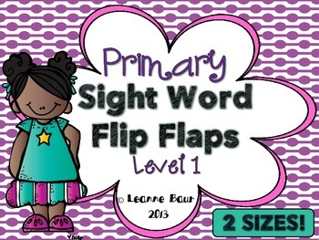 Primary Sight Word Flip Flaps {56 Interactive Sight Words}
