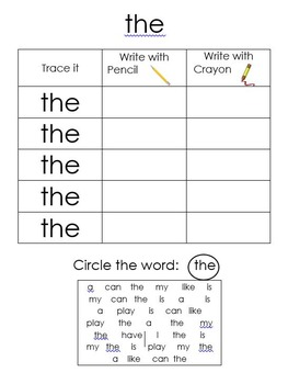 Primary Sight Word Pack