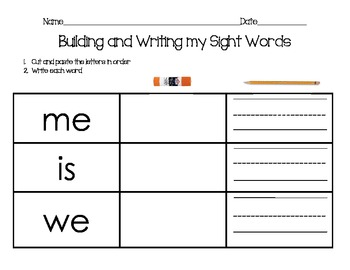 Primary Sight Word Practice {Two Letter Words}