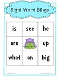 Primary Sight Words Bingo