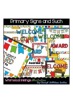 Primary Signs and such Clipart Collection