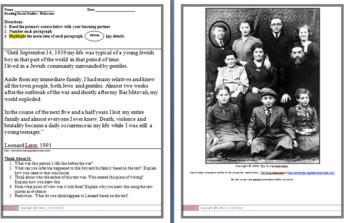 Primary Source Activity: The Impact of the Holocaust on a Family