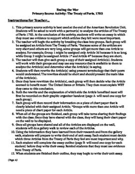 Primary Source Activity: The Treaty of Paris 1783