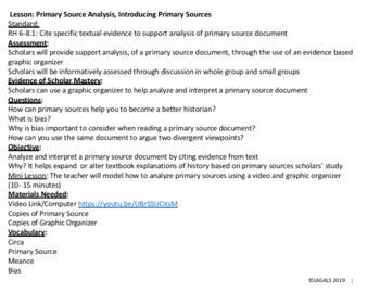 Primary Source Analysis