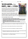 Primary Source Analysis: Declaration of the Rights of Man