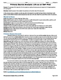 Primary Source Analysis--WW2 Pilot