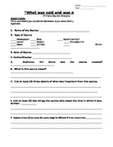 Primary Source Analysis Worksheet