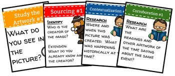 Primary Source Artwork Task Cards