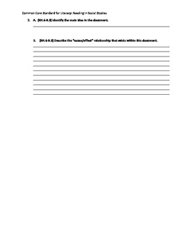 Primary Source Common Core Standard for Literacy in Social Studies: Reading