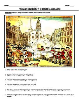 """Primary Source Comparison: """"The Boston Massacre"""""""