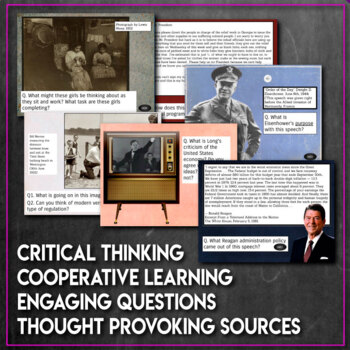 Primary Source DBQ Bell Ringers for Social Studies History 2nd Half U.S. History