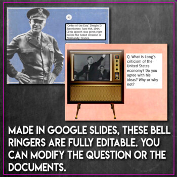 Primary Source DBQ Bell Ringers for Social Studies U.S. History BUNDLE