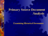 Primary Source Document Analysis
