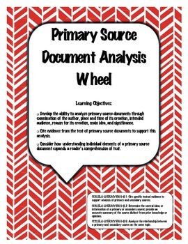 Primary Source Document Analysis Wheel