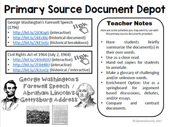 Historical Primary Source Document Depot Multi-Pack