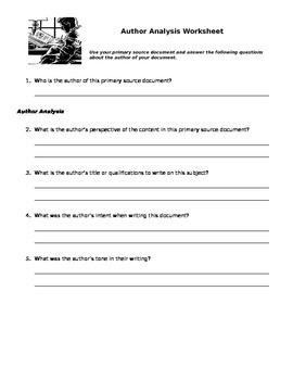 Primary Source Evaluation Assignment