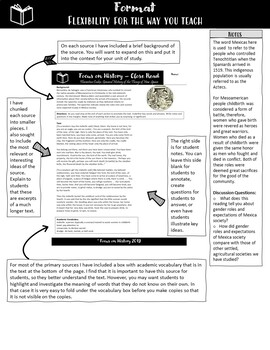 World History Primary Source Activity - Florentine Codex - Close Read