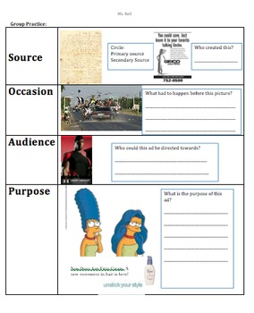 Primary Source--How to find out Source, Occasion, Audience, and Purpose