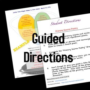 History Primary Source Poetry Grades 6-12