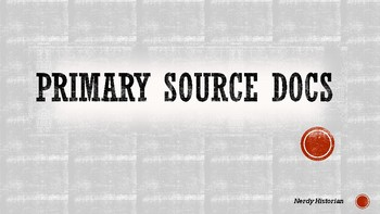 Primary Source PowerPoint