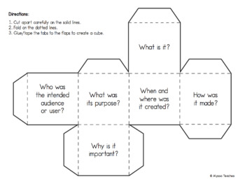 Primary Source Analysis Question Cubes
