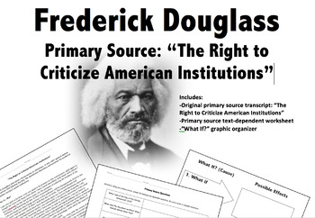 Primary Source & Questions: Frederick Douglass Speech to A