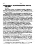 Primary Source Readings on Jackson Era U.S. History