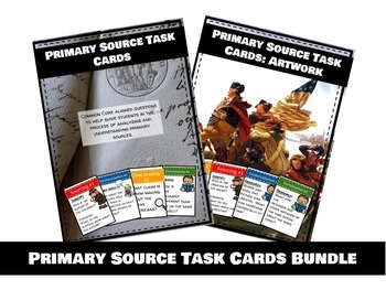 Primary Source Task Cards: Mega Bundle
