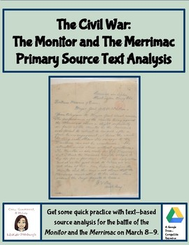 Primary Source Text Analysis: Monitor and Merrimac Telegram from Civil War